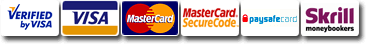 Visa card, Verified by Visa, Mastercard, Mastercard SecureCode, Maestro,